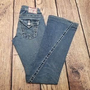 Women's True Religion Joey Big T Jeans Sz 25 Flaps